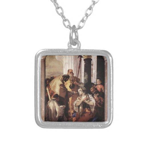Comunión pasada de Juan Tiepolo- de St Lucy Collar Personalizado