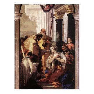Comunión pasada de Juan Tiepolo- de St Lucy Postal