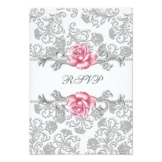 Comunión RSVP de los chicas color de rosa rosados Anuncio