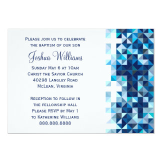 """Comunión santa del esmero del bebé del bautismo de invitación 5"""" x 7"""""""