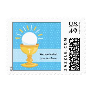 Comunión santa * elija el color de fondo sello postal