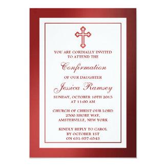 """Comunión santa metálica o confirmación de la Cruz Invitación 5"""" X 7"""""""