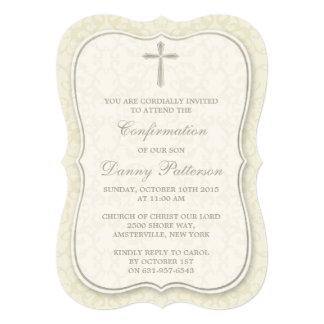 """Comunión santa o confirmación cruzada elegante invitación 5"""" x 7"""""""