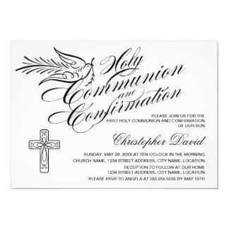 """Comunión santa y confirmación de la paloma de la invitación 5"""" x 7"""""""