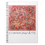 Comunique el cuaderno del lenguaje de signos