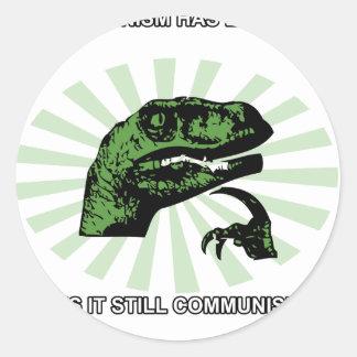 Comunismo de Philosoraptor Etiqueta Redonda