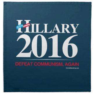 Comunismo otra vez - Hillary anti de la derrota Servilletas