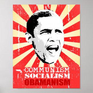 COMUNISMO, SOCIALISMO, OBAMANISM POSTER