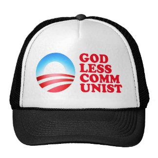 Comunista ateo de Obama Gorros Bordados