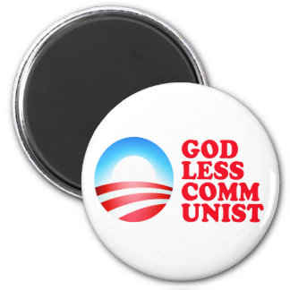 Comunista ateo de Obama Imán Redondo 5 Cm