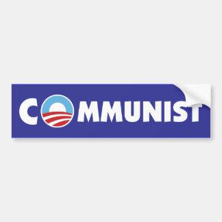 Comunista de Obama Pegatina De Parachoque