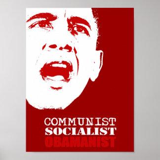 COMUNISTA, SOCIALISTA, OBAMANIST PÓSTER
