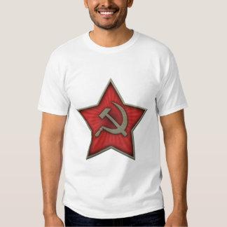 Comunista soviético del martillo y de la hoz de la camisas