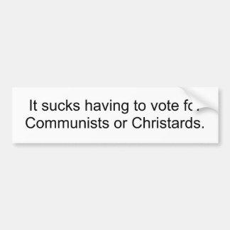 ¿Comunistas o Christards? Pegatina Para Auto