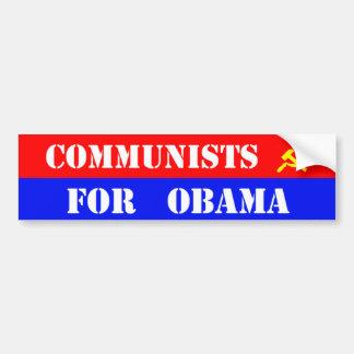 Comunistas para obama pegatina de parachoque