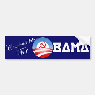 Comunistas para Obama Pegatina Para Auto