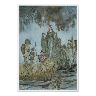 "Comus: ""Sabrina rises, attended by water-nymphs"" Poster"