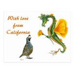 Con amor de California - postal