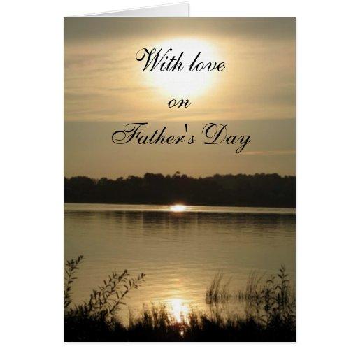 Con amor el el día de padre tarjeta