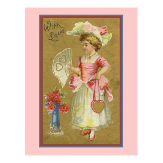 Con amor tarjeta postal