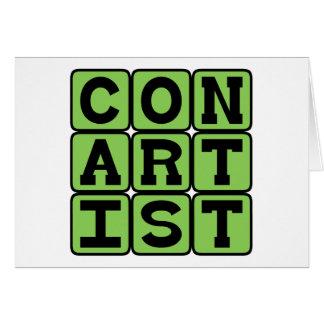 Con Artist, Confidence Man Card