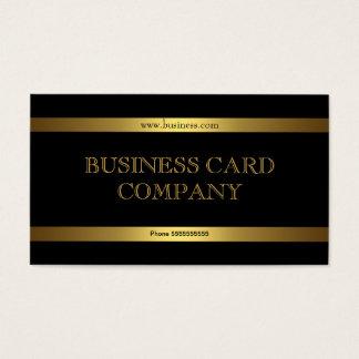 Con clase elegante del negro simple llano del oro tarjetas de visita