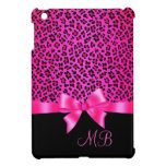 Con clase elegante femenino del estampado leopardo iPad mini funda