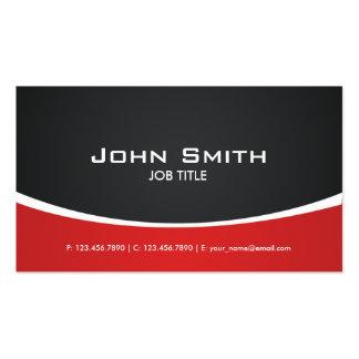 Con clase elegante moderno rojo profesional tarjeta de visita