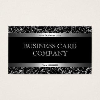 Con clase elegante negro de plata simple llano tarjetas de visita