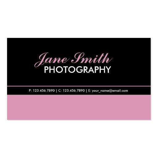 Con clase elegante simple llano profesional tarjeta de visita