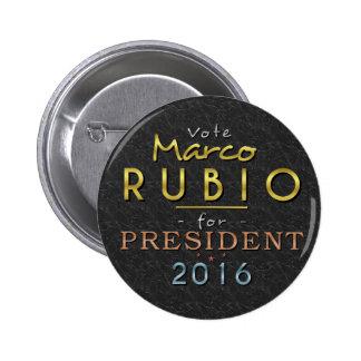 Con clase negro del presidente 2016 oro de Marco Pin Redondo De 2 Pulgadas