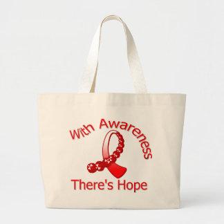 Con conciencia hay cáncer oral de la esperanza bolsa tela grande
