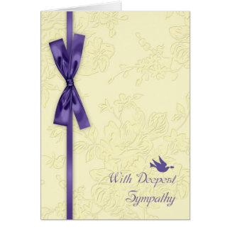 Con condolencia, bata el efecto grabado en relieve tarjeta de felicitación