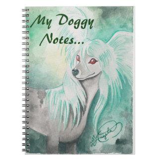 ~ con cresta chino Grzywacz Chiński del perro Spiral Notebook