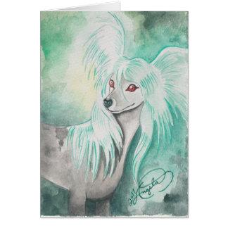 ~ con cresta chino Grzywacz Chiński del perro Tarjeta Pequeña