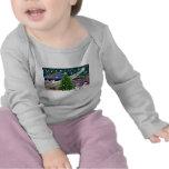 Con cresta Magia-Chino de Navidad Camiseta