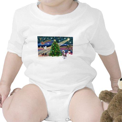 Con cresta Magia-Chino de Navidad Camisetas