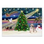 Con cresta Magia-Chino de Navidad Tarjeton