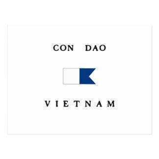 Con Dao Vietnam Alpha Dive Flag Postcard