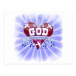 Con dios cualquier cosa es posible tarjeta postal