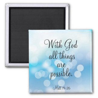 Con dios todas las cosas son posibles imán de frigorifico