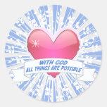 Con dios todas las cosas son posibles etiquetas redondas