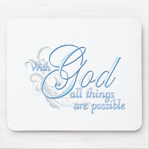 Con dios todas las cosas son posibles tapetes de raton