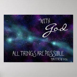 Con dios todas las cosas son poster posible