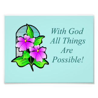 Con dios todas las cosas son poster posible fotografía