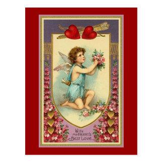 Con el amor de mi corazón tarjeta postal