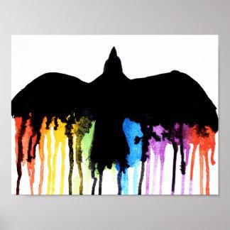 Con el arco iris póster