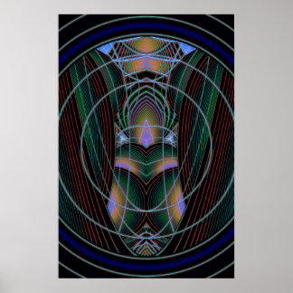 Con el arte abstracto porta póster