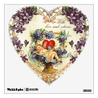 Con el corazón de la tarjeta del día de San Valent