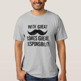 Con el gran bigote viene la gran responsabilidad camisas
